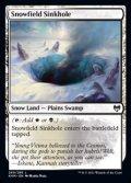 【英語】雪原の陥没孔/Snowfield Sinkhole